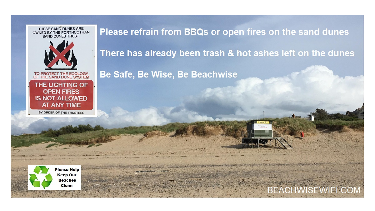Porthcothan-sand-dune-trust-NO-open-fires-or-BBQs