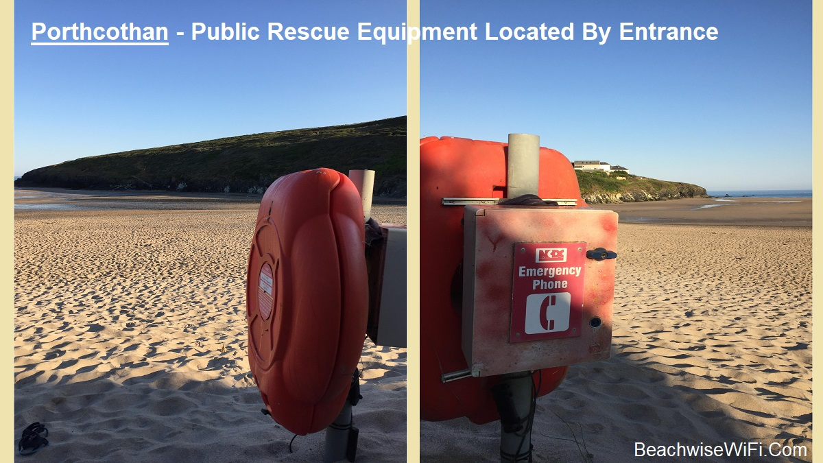 Porthcothan-Public-Rescue-Equipment-Lifering-located-by-entrance.