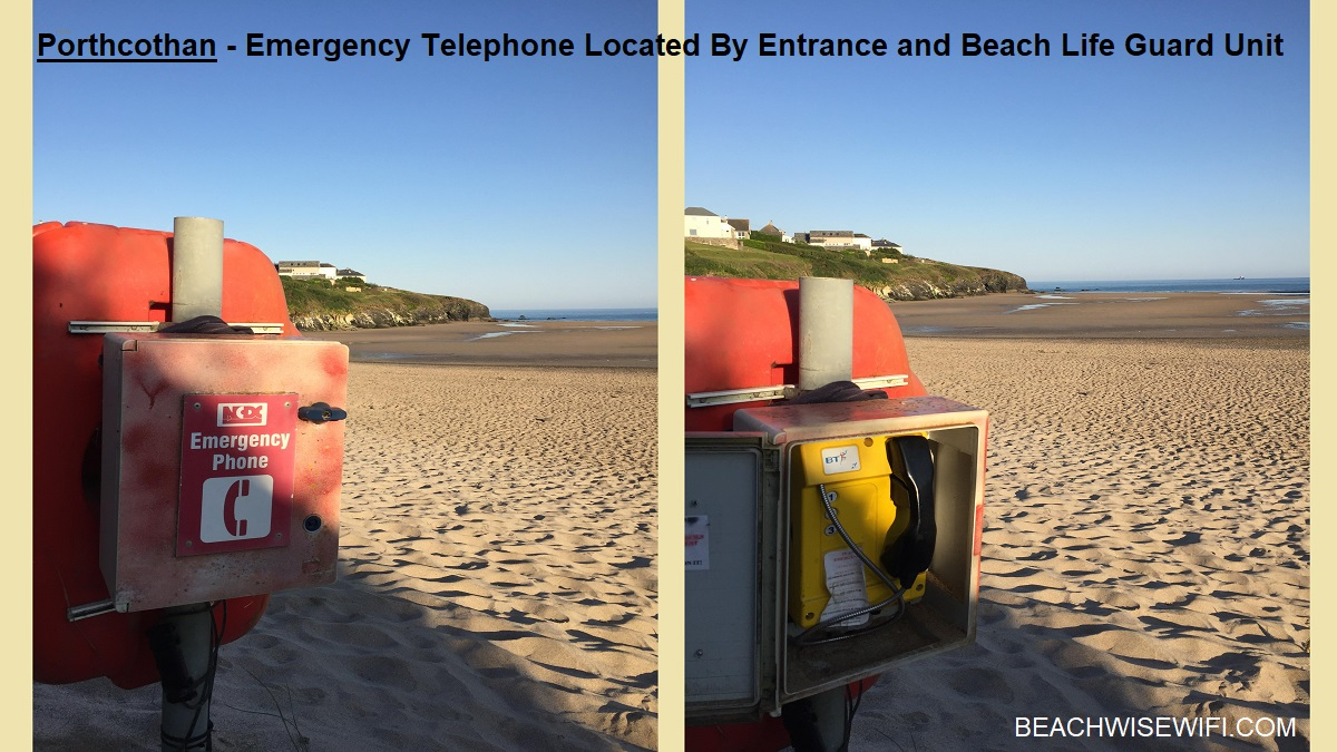 porthcothan-emergency-telephone-by-entrance-and-BLU