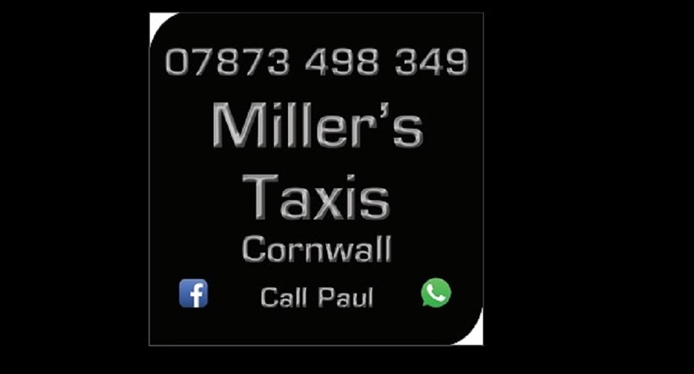 Millers Taxis Cornwall call Paul 07873 498 349