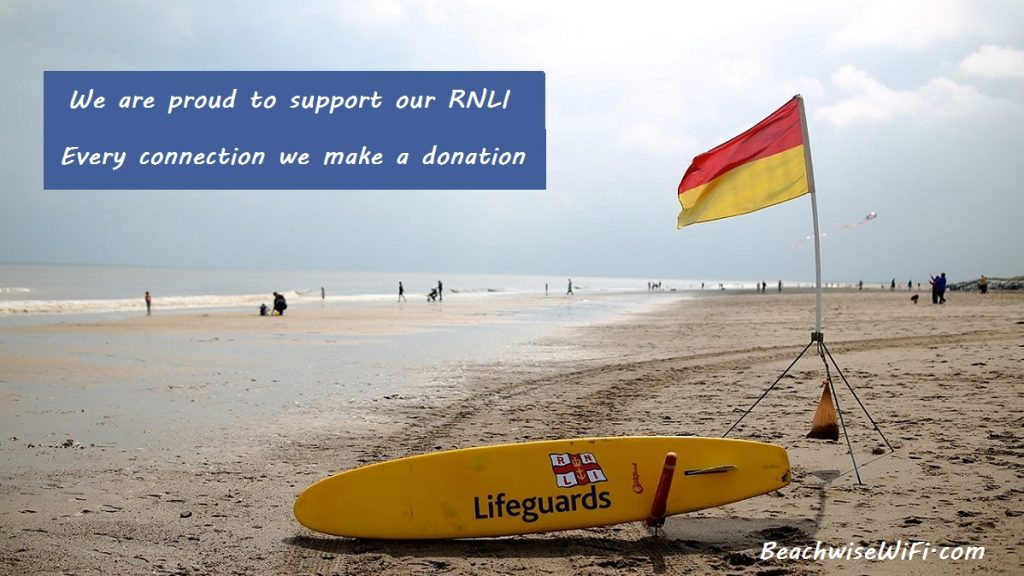 We are proud to support our RNLI every connection we make a donation