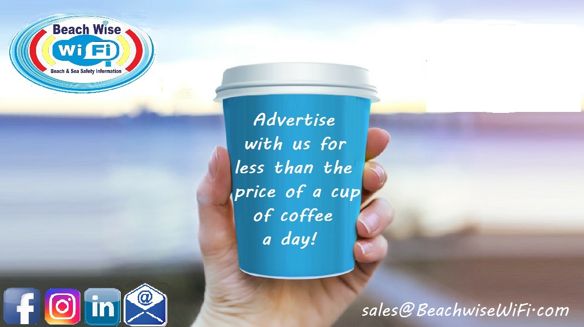 Advertise with Beachwise Wi Fi for less than the price of a cup of coffee a day!!!!!